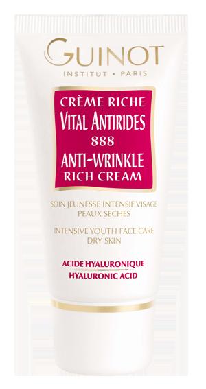 Crеme Riche Vital Antirides 888- Омолаживающий крем (насыщенная текстура для сухой кожи)