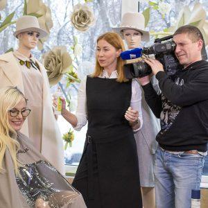 Съёмки для первого канала в Доме Красоты и Моды Жантиль